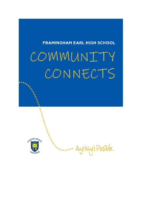 Community Connects Front Page